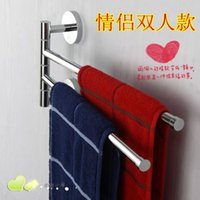 aluminum pallets - Wall Mounted Space Aluminum Double Layer Pallet Hook Bathroom Shelf Bathroom Accessories Towel Bar Towel Racks RB
