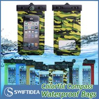 5.8 - waterproof phone bags cases outdoor pouches compass IPX8 universal colors for iphone sumsung smart phone within inch