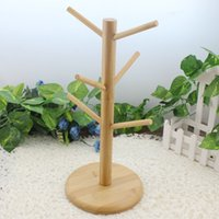 Wholesale Wooden Coffee Mug Tree Tea Cup Holder Stand Mug Storage Rack With Hooks Home Storage And Organization
