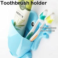 Cheap Bathroom Frog Toothbrush box Toothpaste holder Wall Zakka shelf Bath wall fixture Novelty household items TB8538