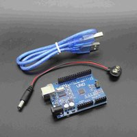 arduino battery power - hot sell UNO R3 MEGA328P for Arduino Compatible with USB cable and V battery clip snap power cable