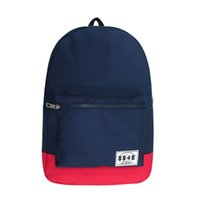 Wholesale 8848 Polyester Simple Navy Color Backpack School Bag travel bag DYBN0013 D007
