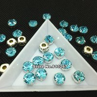 aquamarine movie - 6mm ss28 ss38 mm Glass Chatons Pointed back rhinestones with claw setting Crystal Aquamarine Blue Color