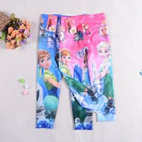 Wholesale new girls Frozen Fever leggings children elsa and anna leggings kids clothes with low price long trousers colors