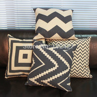 Wholesale 1PC Decorative Modern Black Beige Cotton Linen Printed Throw Cushion Cover Pillow Case for Sofa Bedding Couch Home Decor