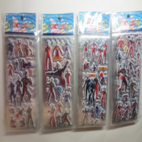 baby dimensions - new baby boy loved cartoon Ultraman stickers top PVC Three Dimensions decorate the room fashion kids boy school Gifts