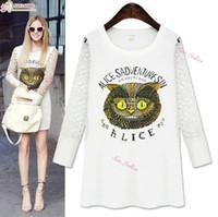 Lace Back Embellish Owl Top / Black - Womens Clothing Sale, Womens Fashion, Cheap