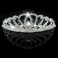 crystal hair accessories - Cheap New Hot Crystals Bridal Crowns Girls Evening Prom Party Shining Tiaras Hair Accessories CW003