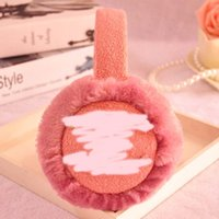Wholesale Big Girls Earmuff Hats Christmas Children Lady Winter Cotton Fur Double C Earcaps Earflaps Warmth Hat Blue Pink Orange Red Brown K1901