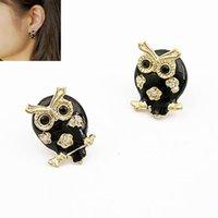 Wholesale New Fashion Korean Sweet Owl Gold earrings Stud Earrings For Women accessories Jewelry Brincos Grandes