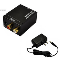audio dac converter - new Digital Optical Coaxial Toslink to Analog Audio Converter DAC Fiber with US Plug Adapter