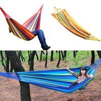 Cheap Swing Hanging Chair Outdoor 380G M2 Canvas Garden Hammock 270261-270262 New