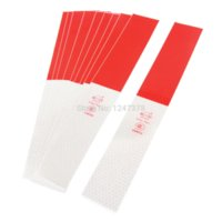 Wholesale 10 Car Truck Reflective Hex Dot Printed Sticker Red Silver Tone Reflective Strips Cheap Reflective Strips