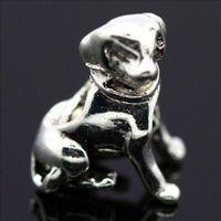 Bracelets de charme initiales Avis-Nouveau! Gros chien 4mm vis initiale charmes 925 argent perle européenne Compatible avec Snake Chain Bracelets bijoux