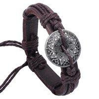 Cheap Leather charm bracelets Chinese star anise elements cowhide leather bracelet personalized jewelry wholesale jewelry bracelets wholesale comm