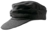 Wholesale WWII GERMAN WH EM M43 PANZER WOOL FIELD CAP MEN GREY MILITARY HAT IN SIZES
