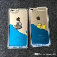 duck swim - Rhubarb duck swimming iPhone6 following from apple plus cases s flow liquid shell mobile phone sets of ducks