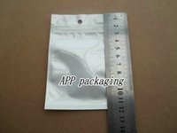 Ordinary thin adorn packaging - 7 x12cm clear white Zipper Retail package bag bags Poly Small adorn article Electron accessories Packaging bag Hanging hole bags