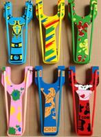 Wholesale Free Ship Mixed Korean Wooden cm Slingshot Toys Slingshot For Kids Christmas Gift