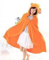 Cheap Anime Himouto! Umaru-chan Cloak Hoodies 130cm Flannel Coat Daily Blanket Poncho Yellow Quilt novelty coat &jacket Free Shipping
