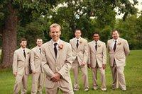 men dress suits - Custom Made Bridegroom Groom Tuxedos Newest Notch Lapel Men Suits Man Business Suit Jacket Pants Tie Vest Party Formal Dresses A037