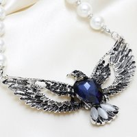 advanced acrylics - 2015 Sale Limited Collier Sautoir Long Colares Jewelry Diamond Pearl Necklace Eagles Advanced Alloy Street Beat Clavicle Chain Short