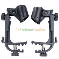 Wholesale 2X Adjustable Clip On Drum Rim Shock Mount Microphone Mic Clamp Holder Pack