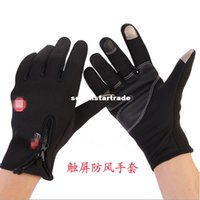 Wholesale WINDSTOPPER fleece winter gloves touch gloves bike riding warm gloves