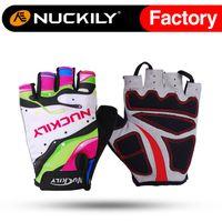best racing gloves - Nuckily Bike racing glove foam padding palm gel pad cycling glove Hotselling with best quality bike glove