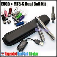 ecig - 2015 Newest Evod MT3 S E cigarette kits upgraded MT3 dual coil MT3S ecig atomizer with Evod batteries mah kits VS ego mini X9 X6