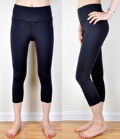 Wholesale womens Reversble gym yoga Crop pants leggings Dance Gym Running Workout Fitness Pants