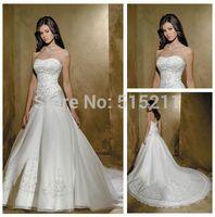 corset bodice wedding dress - Ivory Organza Silver Embroidery Corset Bodice Wedding Dresses China Cathedral