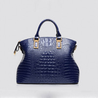 large handbags - 2016 Famous brand Genuine leather handbag Crocodile women shoulder bag vintage Ladies Large Tote bolsas femininas Crossbody bags