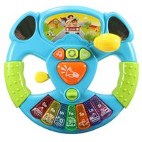 Wholesale Education Intelligence Toy Steering Wheel Transportation Tools Music Lights Baby Electronic Multifunctional Button Color Scales