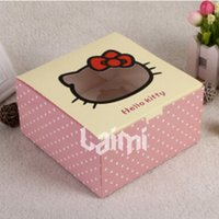 Wholesale DIY New OF Pink Hello Kitty Macaron Cupcake Cardboard Box Gift Package Container Paper Assorted