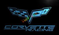al por mayor corvette-LG095- Chevrolet Corvette-luz de neón de colgar signo tienda de decoración para el hogar manualidades señal LED
