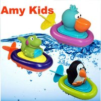 baby imagination - Sassy Inspire Imagination Lovely Animal Play Water Penguin Boats Baby Bath Toy and Drop Shipping
