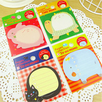 Wholesale 2015 Cute Animals Notepad Home School Office Convinent Sticky Memo Sticker Marker Paper Note Pad Message Post Papers Short Notes S715M