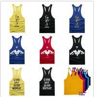 Wholesale 2015 Hot Men s Bodybuilding Tank Top Muscle Gym Stringer Shirt Singlet Racerback Vest