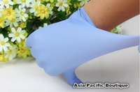medical gloves - blue medical gloves rubber latex working protective gloves disposable for work NBR gloves Labor Gloves freeshipping
