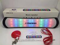 Wholesale LED Mini Speaker Pulse Bluetooth Speakers JHW V319 Stereo Subwoofers Hifi Loudspeaker FM TF USB Slot Music Player Mic for iPhone Plus S6