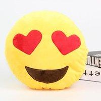Wholesale Factory Price cm Cute Emoji Smiley Emoticon Yellow Round Soft Cushion Pillow Stuffed Plush Toy Christmas toy Stock ready