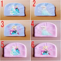 Wholesale Hot Baby Frozen hats winter knitted caps kids Frozen Elsa Anna Toddler Cute Cartoon Animal Hats Baby Crochet Hats infant caps