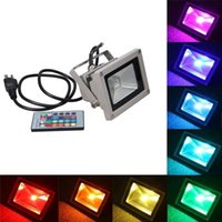 Wholesale 10W RGB Waterproof LED Flood Light Different Color Tones with US UK AU EU Plug Remote Control For Outdoor Hotel Garden