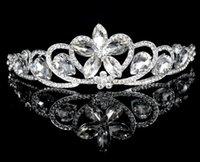 Cheap Tiaras&Crowns Hair Accessories Best Rhinestone/Crystal Shinning Diamond Cryatal Empire Crown 2015 New Arrivals Bridal Jewelry