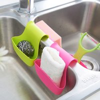 Wholesale 2015 New Arrival Kitchen Sink Caddy Dish Washing Sponge Holder Toiletries Storage Holders Blue Green Pink