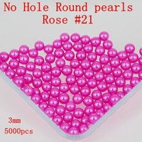Wholesale No Hole mm Many Colors To Choose No Hole Round Pearl Bead Diamante Craft Art Diy Nail Art Decorate