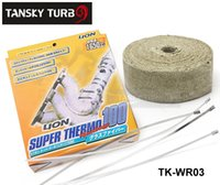 Wholesale Tansky BILL quot x10m White TURBO MANIFOLD HEAT EXHAUST THERMAL WRAP TAPE With STAINLESS TIES TK WR03