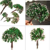 Wholesale Sand Table Model DIY Micro landscape Decorative Plastic Flowers Simulation Trees Home Gardening Decoration