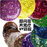 art confetti - set Glittery UV GEL Extension DIY Builder Nail Art glitter powder Confetti Sequins Acrylic UV Gel Tips